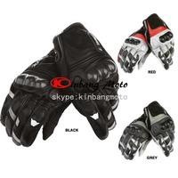 Hot sale High quality Blaster leather carbon fiber motorcycle gloves / racing gloves / sport utility vehicle glove color:black