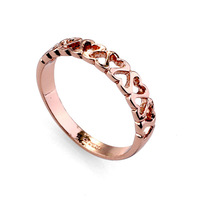 3402- new  Crystal wedding ring gifts for man and  women 18K  Gold Plated Made with Genuine crystal Wholesale price-2 colours