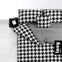 052121 4pcs/set new design black and white swallow gird personality fashionable cotton bedding set free shipping