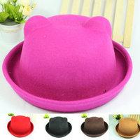 Free Shipping!  Korean winter pure wool hat parent-child hat dome adult Winnie Orecchiette millinery