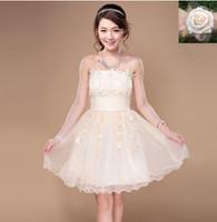 Free shipping New Arrival bridesmaid dresses Short  Sleeveless bridesmaid Group dress Princess  bridesmaid dress