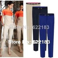 2013 Pencil Pants Women Ol Casual Slim Chiffon Long Trousers For Lady S-XXL 1Pcs 16016