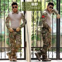 3AT-FG frog Airsoft army military uniform tactical BDU USMC Navy seals combat pandex CP module frog suit (jacket+pants) multicam