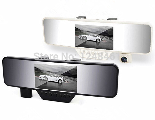 4.3 Inch TFT Screen 1080P Full HD GPS Tracker Bluetooth Wireless Car Mirror Rear View Camera Free Shipping(China (Mainland))