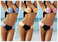 Hot Sale Brand Bikini Push Up Swimwear For Women,Denim Hipster Bikini Swimsuit Size SML,Free Shipping