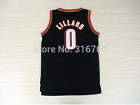 #0 Damian Lillard Brand New Jerseys Black Basketball Jersey