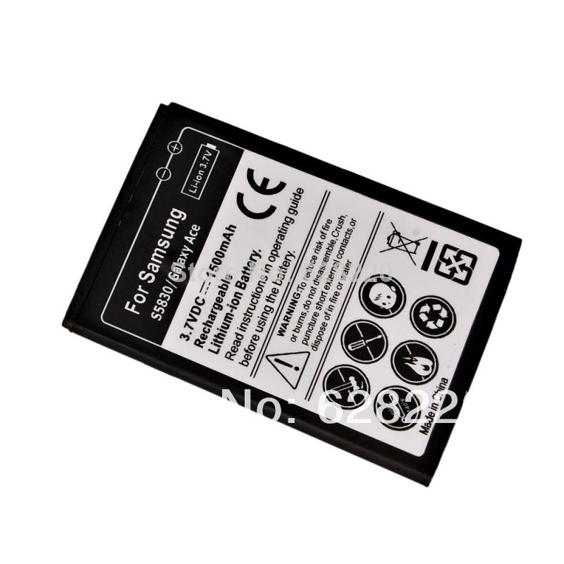 Worldwide Free Fast Shipping NEW Li-Ion Battery for Samsung S5830 Galaxy ACE 1500mAh(China (Mainland))