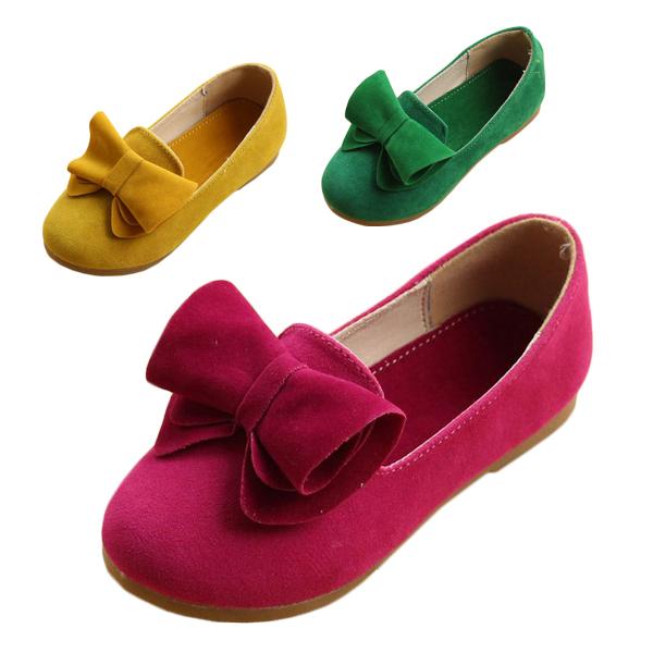 Le printemps et l'automne 2014 enfants chaussures en cuir fille seule chaussure princesse, arc, chaussures pour bébé enfants chaussures de sport