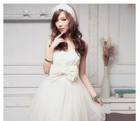 Free shipping New Arrival bridesmaid dresses Short  bowknot  bridesmaid Group dress Princess bridesmaid dress