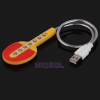 NI5L Racket Shaped 7 LED Energy Saving Lamp USB Light for Notebook PC Laptop