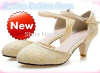 Women favorite ! new summer genuine leather buckle strap women summer sweet  chunky sandals plug size 41 42 43