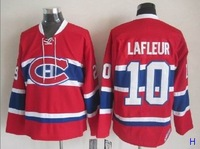 Wholesale Authentic Montreal Canadiens #10 Guy Lafleur Jersey Home Red CCM 100% Sewn Stitched Ice Hockey Jerseys Free Shipping