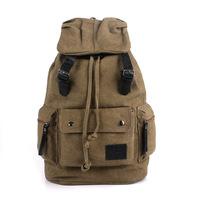 Canvas shoulder bag big bag  Fashion casual canvas bag  Unisex Outdoor bag free shipping