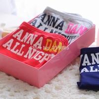 3 PCS/LOT Vs panties pink women's 100% cotton letter print briefs preppy style simple and natural underwear