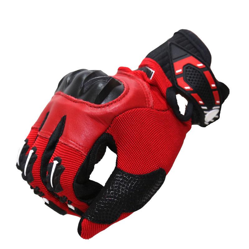 2014 neue top fasion leder unisex volle Fingerhandschuhe motorrad motocicleta motocross motorrad luva guantes wasserdicht