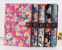 Fashion Rose Floral Flip Wallet Card Holder Magnetic Stand Leather Cases For Apple ipad mini 1/2 Retina ipad 2 3 4 5 Air Cover
