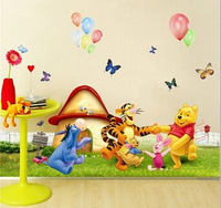 Free Shipping 70*50cm Creative Decor cartoon animal Removable kids Bed Room Art Mural Wall Sticker Decal Home Decor DDW-QT001