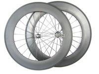 carbon fiber tubular road bike wheelset in stock,23mm width carbon wheels