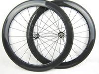 25mm width 60mm tubular full carbon fiber road bike wheels in stock