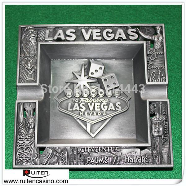 Engrave Les Vegas Zinc Alloy Ashtray Vintage Style Ashtray(China (Mainland))