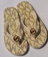 New flip flops cool summer MK metal buckle print lady girl shoes flat sandals Thong women sandal