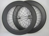 full carbon fiber bike wheels 88mm clincher,23mm width carbon wheels