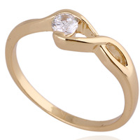 Chic 18K Gold White Gold Plated Ring Artificial Gemstone Jewelry   638441-638444