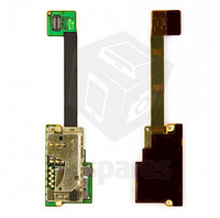 SIM Card Connector for Nokia E90 Cell Phone, (memory card connector, with flat cable)