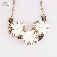 New European Vintage Luxurious Lace Necklace New Women Chain of Flower Neckalce#151