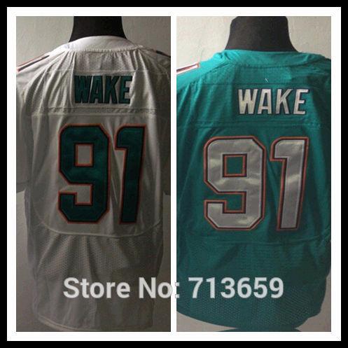Miami #91 Cameron Wake Men's Elite Sports Jersey american football Jerseys,Embroidery Logo,Free Shipping,Accept Mix Order(China (Mainland))