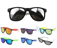 Adult Mirror Colorfull Light lens UV 400 Sunglasses Eyewear Wayfarer Sun Glasses