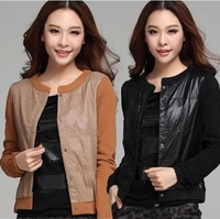 2014 small coat jacket XXXXXL large size women's clothing in the spring and autumn female leisure joker thin short coat14070302