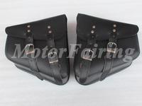 Leather Motorcycle Motorbike Touring Expandable Saddle Bag Saddlebag Tool Bag Travel Bag For Harley 2 (Left and Right)