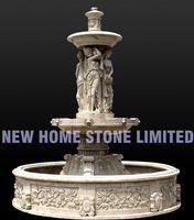 garden decorative natural beige marble stone fountain statues sculpture