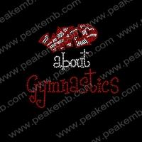 30pcs/Lot  Wild About Gymnastics Iron On Rhinestone Transfer Designs for T shirt Free Shipping