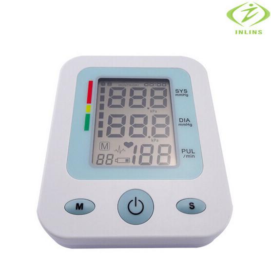 Portable household health monitors for health care Upper Arm Blood Pressure Monitor medidor de pressao arterial