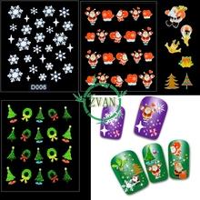 popular snowflake nail art