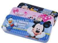 0968 High grade tin cartoon Mickey double-layer pencil bag pencil case
