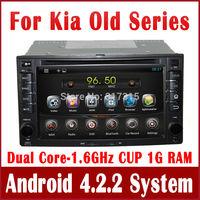 Android 4.2 PC Car DVD Player for Kia Cerato Sportage Rio Ceed Sorento with GPS Navigation Radio TV BT DVR 3G WIFI Tape Recorder