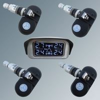 In Stock SPY Wireless Car TPMS Tire Pressure Monitor System With 4 Internal Sensors & Angle Adjustable LCD Display Fast Shipping