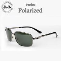 Good quality Aviator Men  Alloy frame Polarized sunglasses Driver Mirror Glasses Male Fishing Outdoor Sports oculos de sol