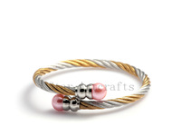 AB222 Wholesale 2014 New Innovative Item Stainless Steel Bangles Bracelets Jewelry women Pulseiras Inlaid Pearl