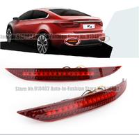 Free Shipping Car Red Len Rear Bumper Reflector LED Stop Brake Light LED brake rear Lamp for  Kia K3 Bumper Reflector LED lamp