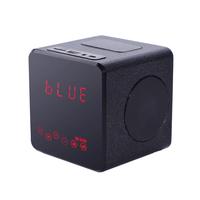 2014 New KR-5200 Wood LCD NFC FM Radio Mini Portable Wireless Bluetooth Speaker Support TF Flash Disk Audio Input Sound Box