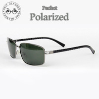High Quality Men perfect Polarized Sunglasses  Alloy frame glasses for driving surfing skiing fishing free shipping 5004