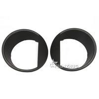 New Arrival A Pair of Headlight Trim Bezels Black Headlight Eyebrow Trim Rings For 07-14 JEEP WRANGLER JK