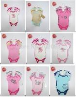 5 pcs set Baby short Sleeve Bodysuits infant boy Girl Clothes 12sets/lot#3682