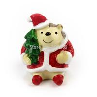 Resin hedgehog Christmas decoration christmas gifts 2014