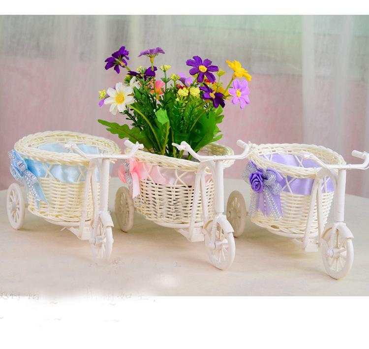 Хиты 2014 1 шт. велосипед цветочный горшок большой круглый корзина ротанга плавает ваза для цветов вазоны подходит украшение дом