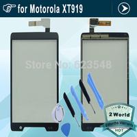 Original LCD Top Touchscreen Touch Screen Digitizer Glass Replacement For Motorola RAZR D3 XT919 XT920 + tools